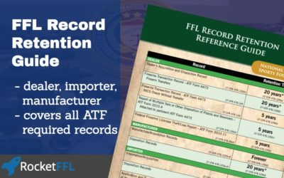 How Long do FFLs Need to Keep Their Records?
