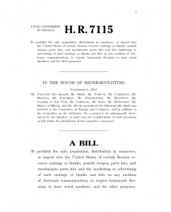 HR 7115 3D Firearms Act