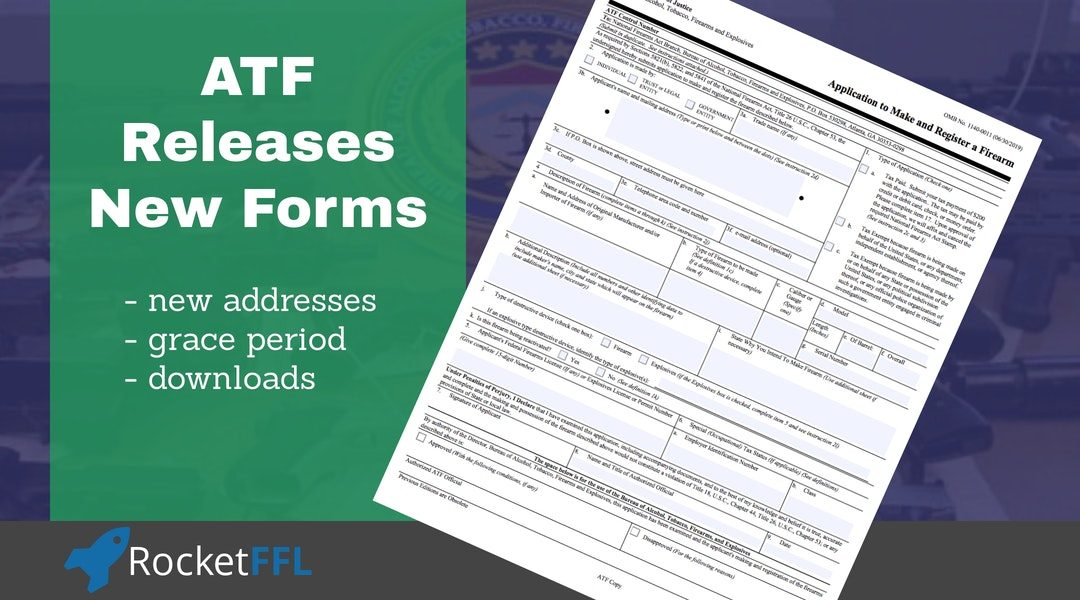 New ATF Forms Released – FFL & SOT