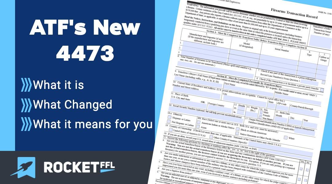 ATF - NEW 4473 - 2020