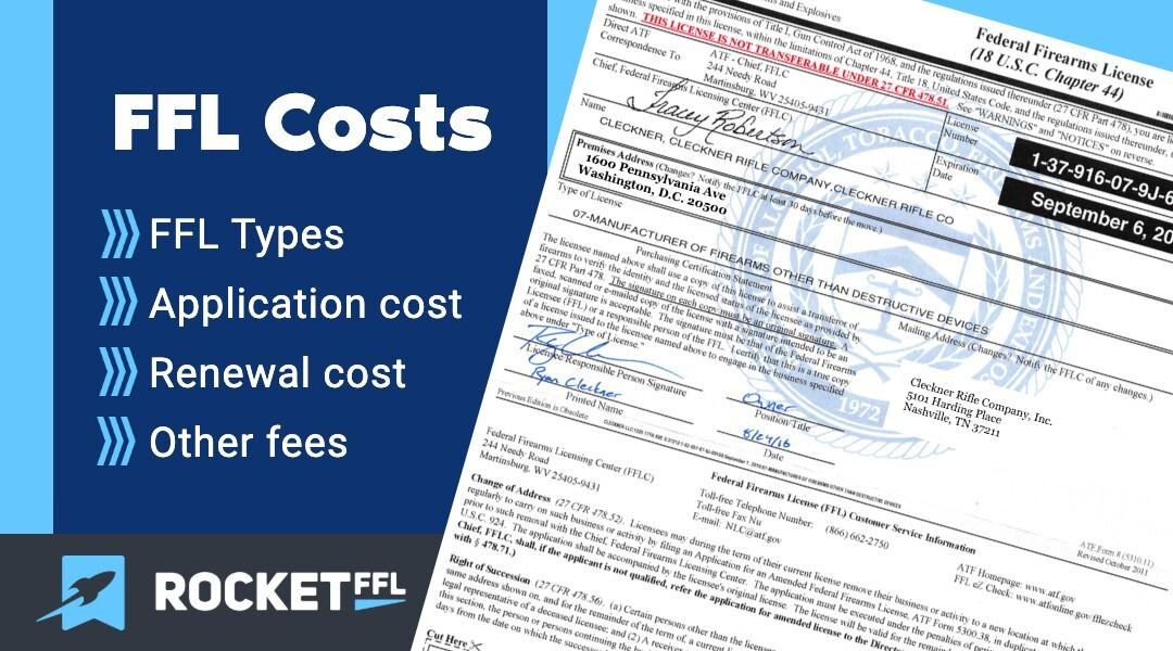 FFL License Cost